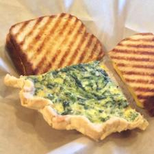 quiche grilled chees
